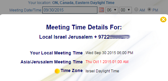 Global Time Zones - Meeting Time